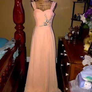 NWOT Beautiful corset floor length formal dress